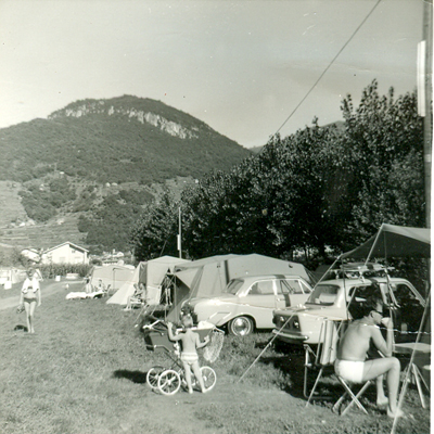 an overview of a part of the camping